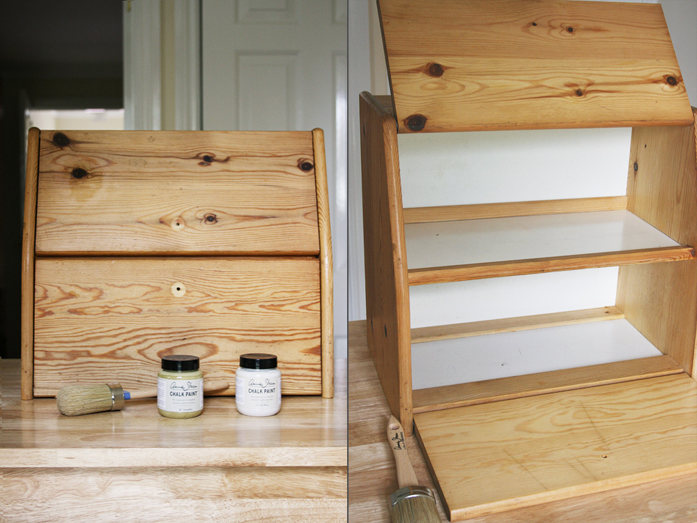Bread bin before and after Annie Sloan paint | Crafting Fingers