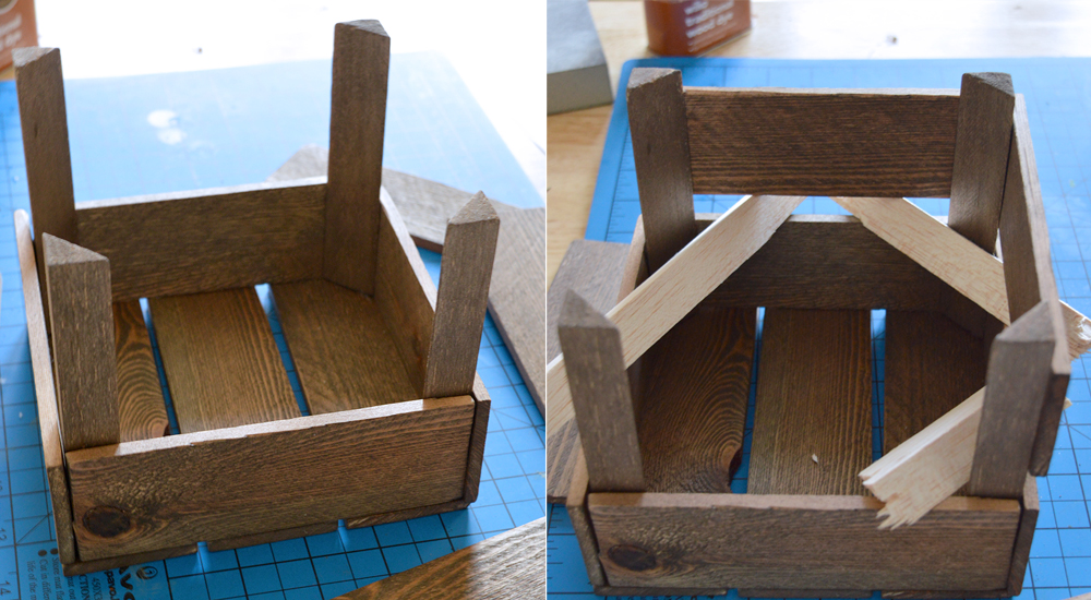 How to make an aged miniature fruit crate from scratch   Crafting Fingers