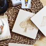DIY woodburned coasters, perfect beginner's project! #pyrography