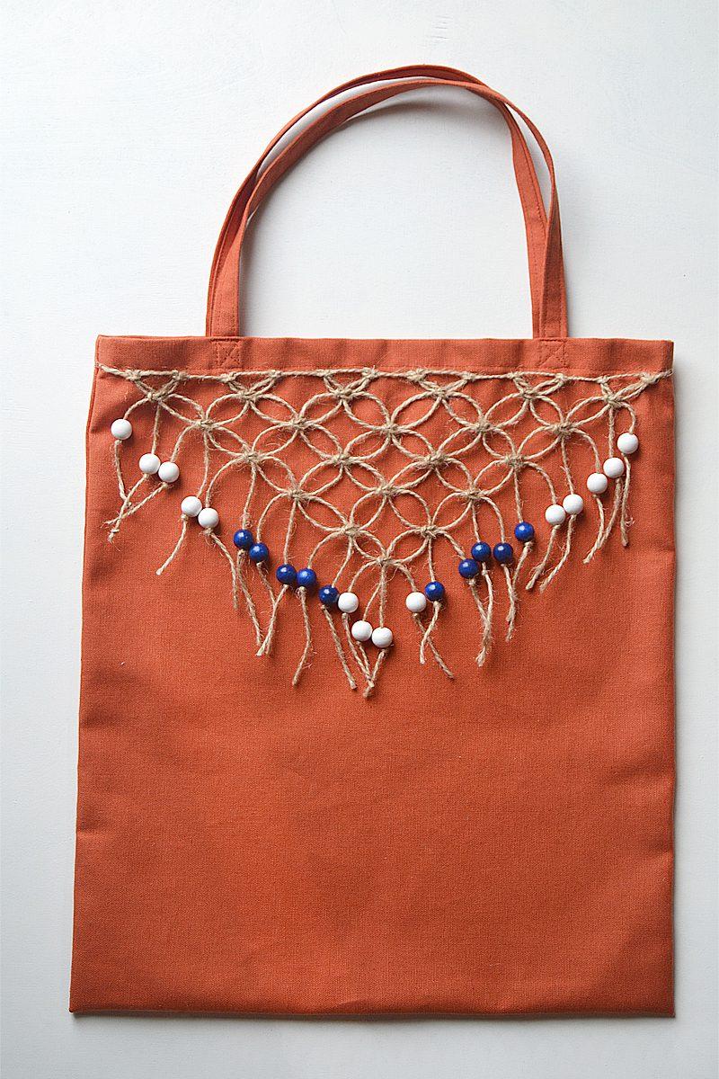 DIY beaded macrame fringe tutorial craftingfingers.co.uk