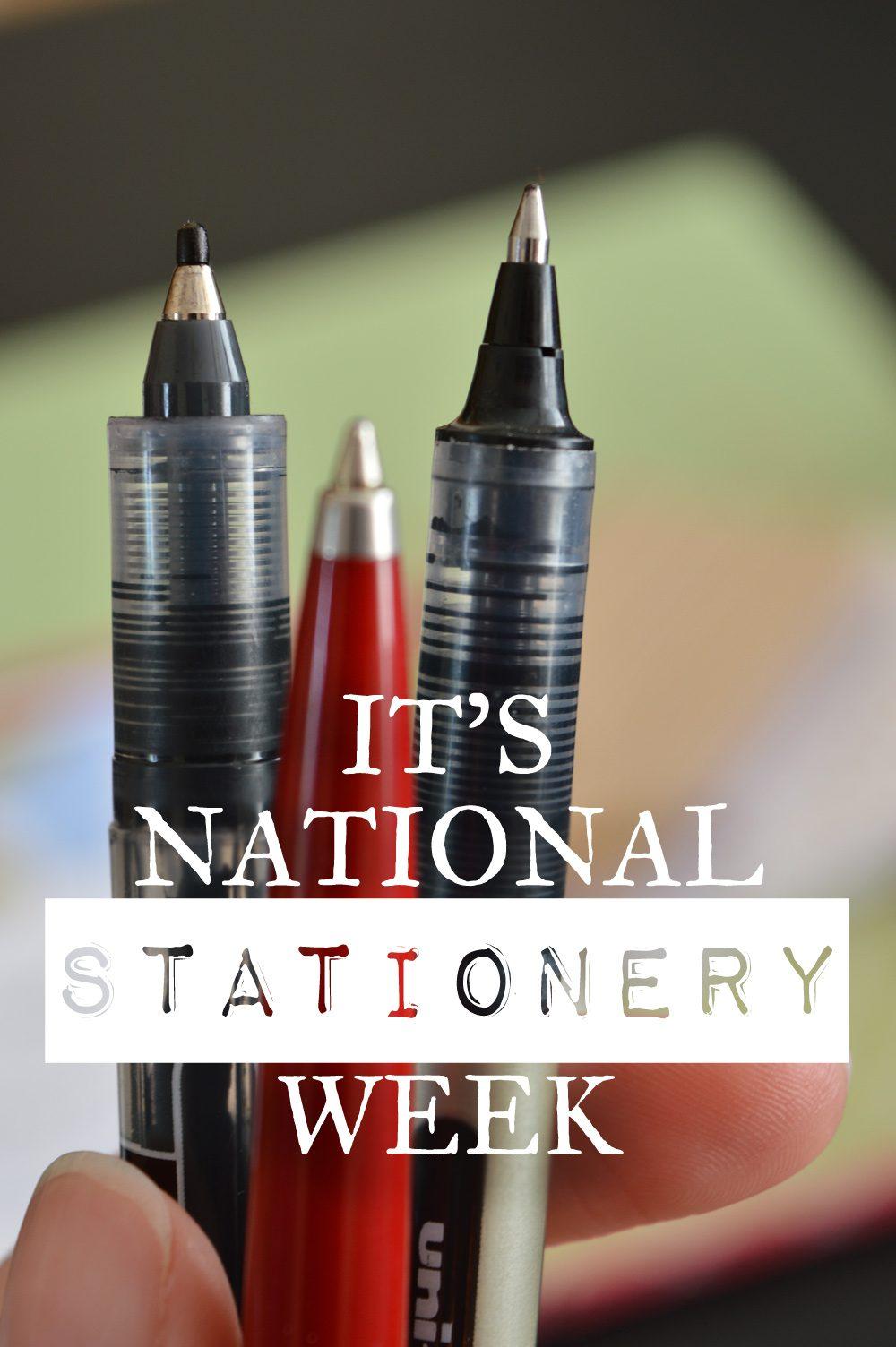 Celebrate National Stationery Week #stationeryaddict