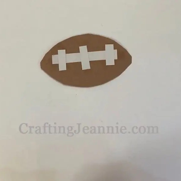 Fathers day football craft finished football