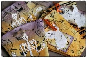 Halloween Coffee Filter Treat Pockets