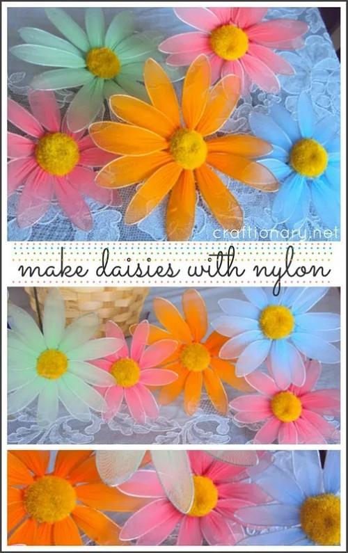 make-nylon-flower-daisy-flower-tutorial-diy