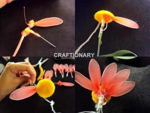 pantyhose-nylon-flower-daisy-material-instructions