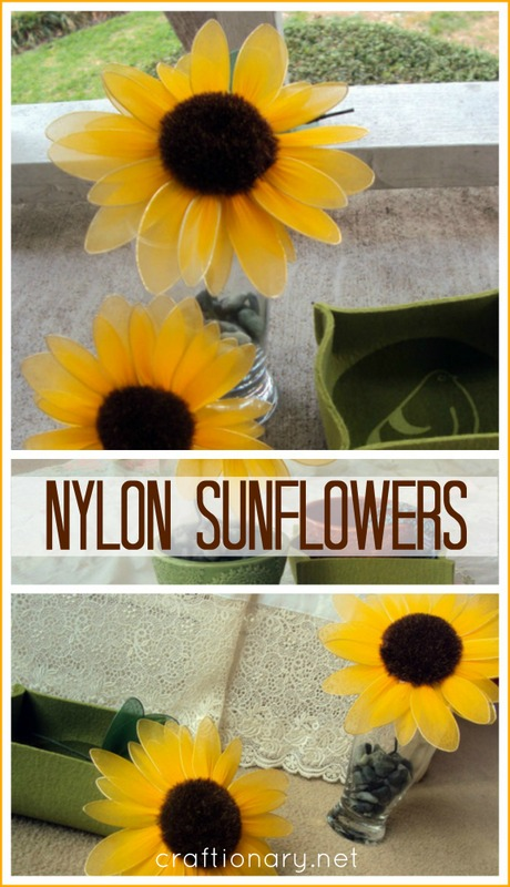 handmade nylon flowers sunflower