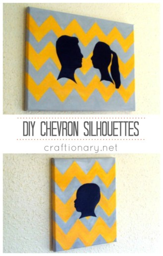 chevron painted canvas