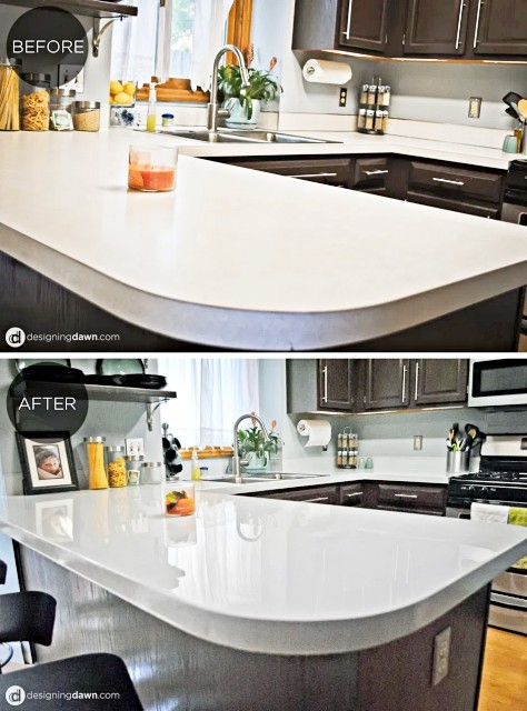 Glossy-painted-kitchen-countertop-tutorial