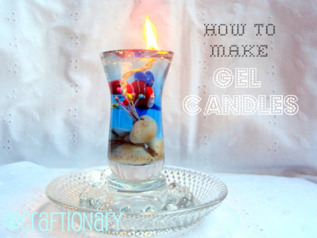 make easy gel wax candles