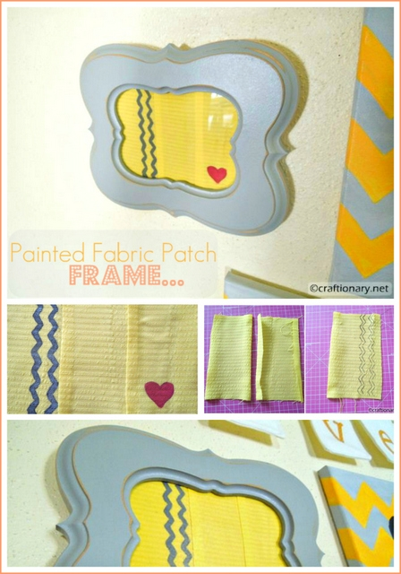 painted fabric patch frame tutorial