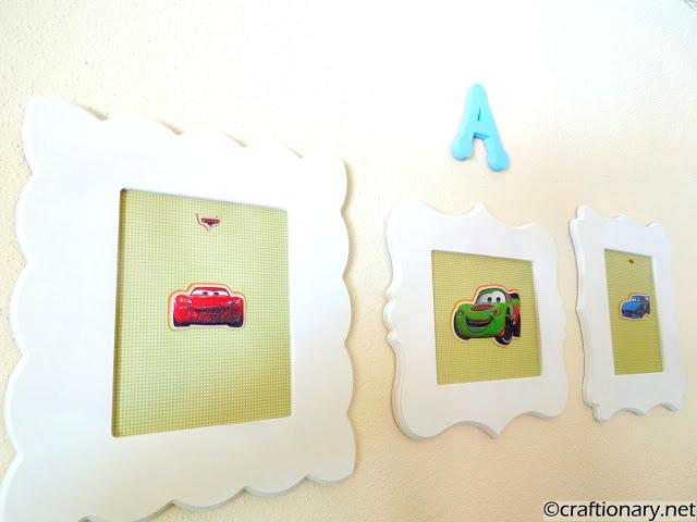 cars themed frames diy