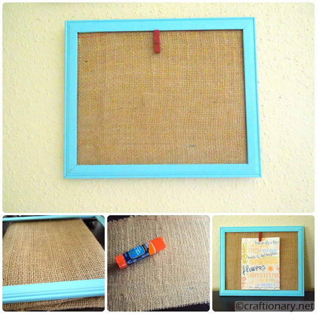 clip clothespin photo frame