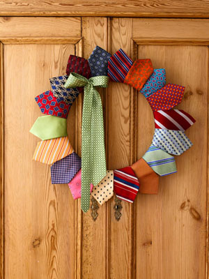 DIY tie wreath