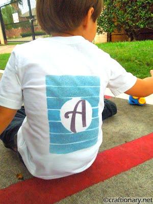 monogrammed kids t-shirt
