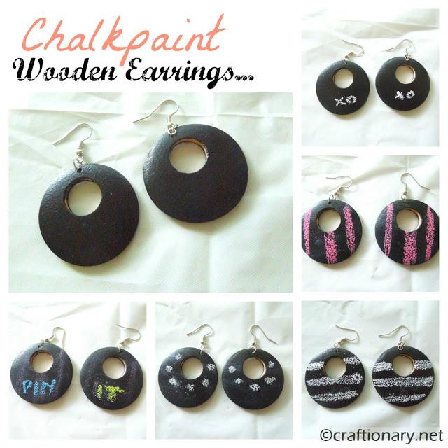creative wooden earrings
