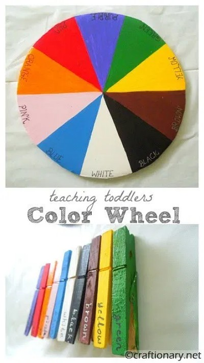 colour-wheel-toddlers-preschool-kindergarten-kids-colours-recycle-project