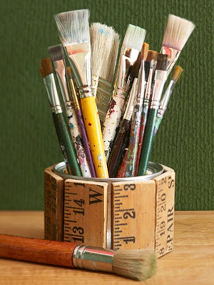 DIY ruler yardstick holder