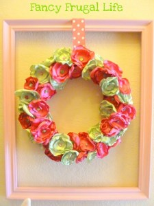 satin flowers wreath