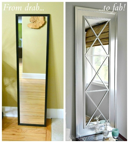 DIY mirror wall decor