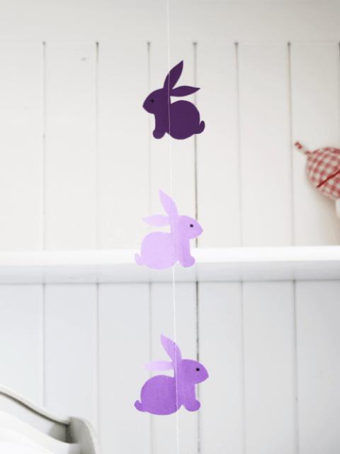 make rabbit garland crafts