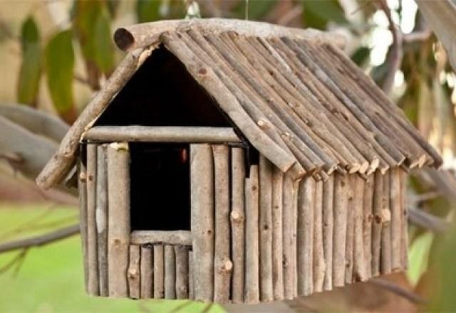 twig birdhouses