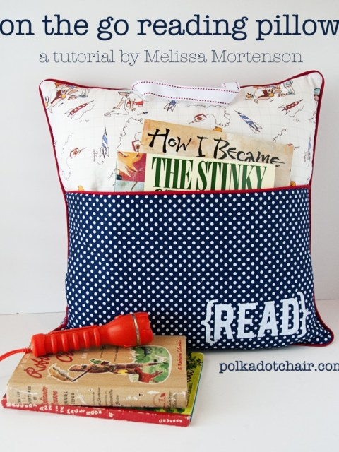 reading pillow tutorial
