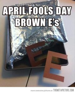 april fools day brownie