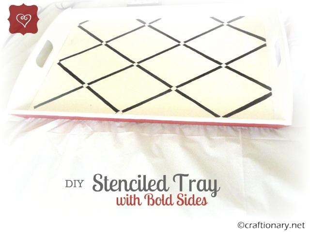 stencil DIY tray