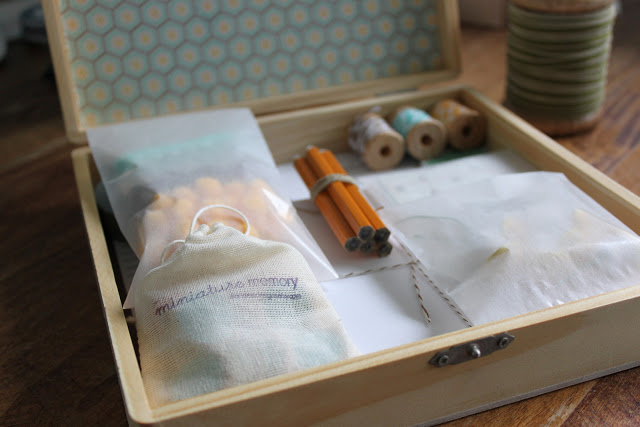 handmade gift stationery kit