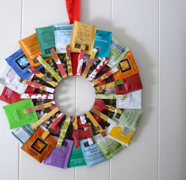 handmade gift tea wreath