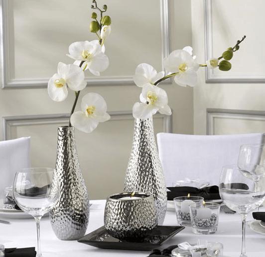 metallic DIY vases