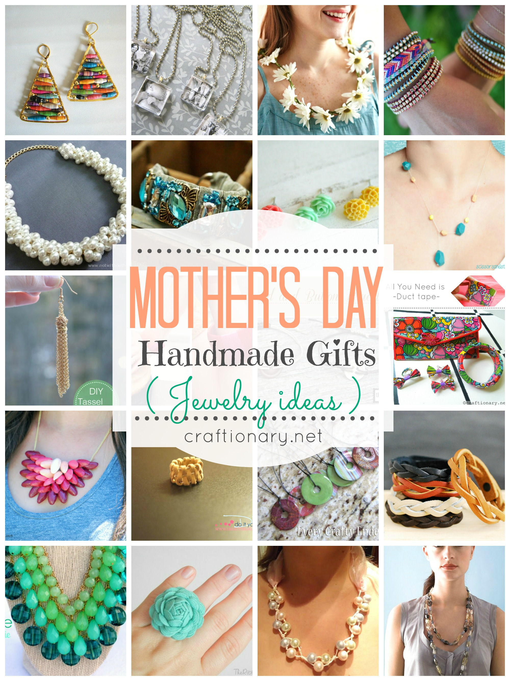 20 Mothers Day Gifts Handmade Jewelry For Moms Craftionary
