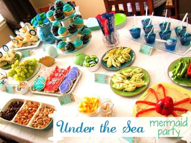 under the sea mermaid party