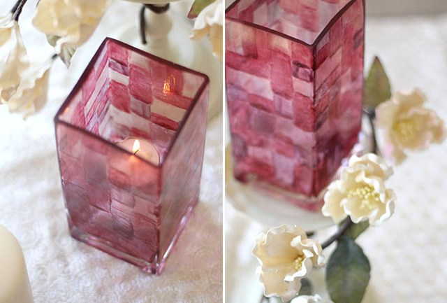 DIY STAINED GLASS VASES