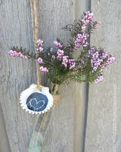 DIY test tube flower vase