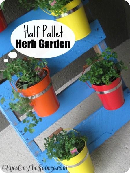 half pallet herb garden