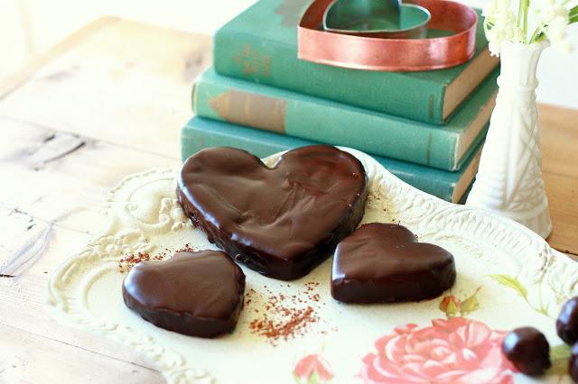 heart chocolate truffles