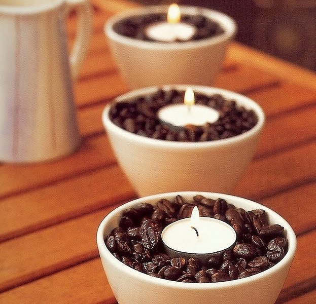 coffee bean tea lights