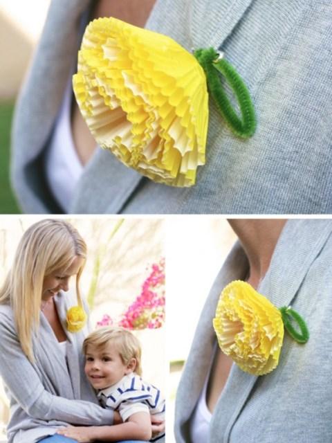 cupcake liner corsage