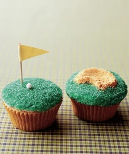 fathers day golf cupcakes