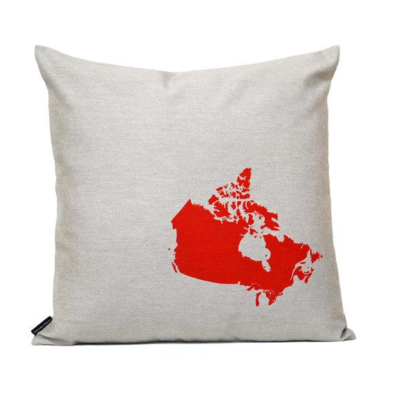 canada map pillow