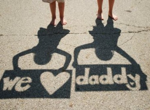 fathers day photography shadow idea