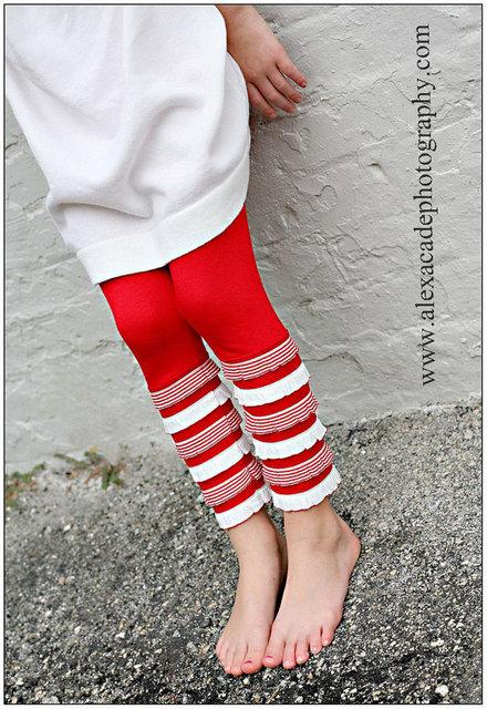red white leggings