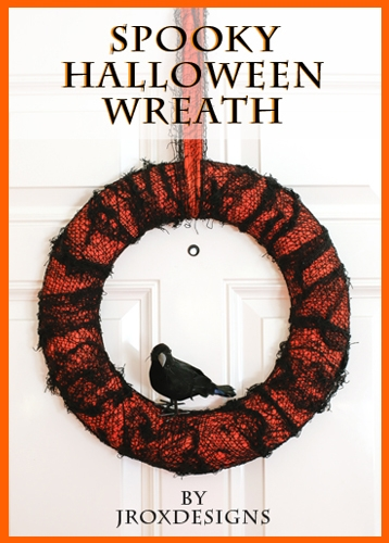 scary crow wreath tutorial
