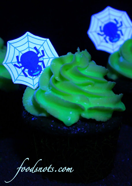 ghost glowing cupcakes