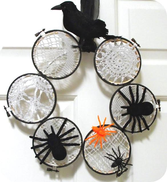 spider web wreath tutorial