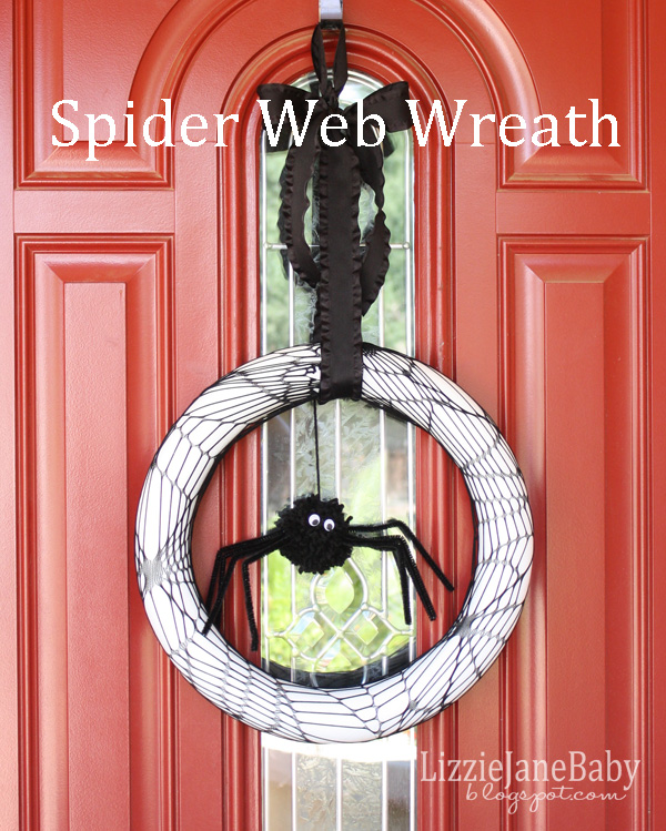 cute spider wreath tutorial