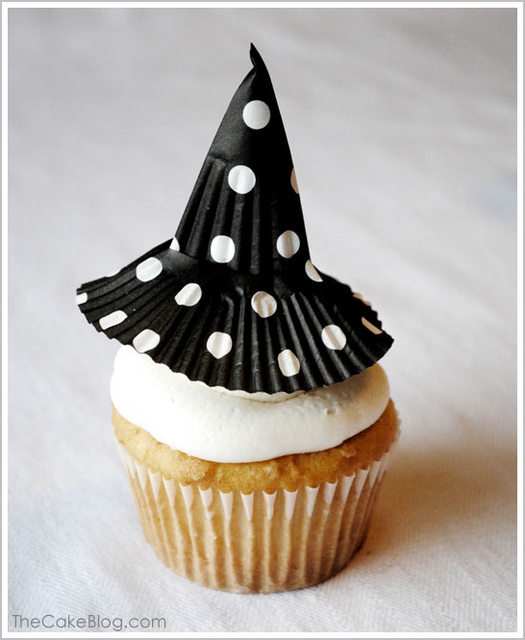 witch hat cupcake topper