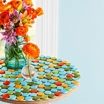 bottle cap tabletop