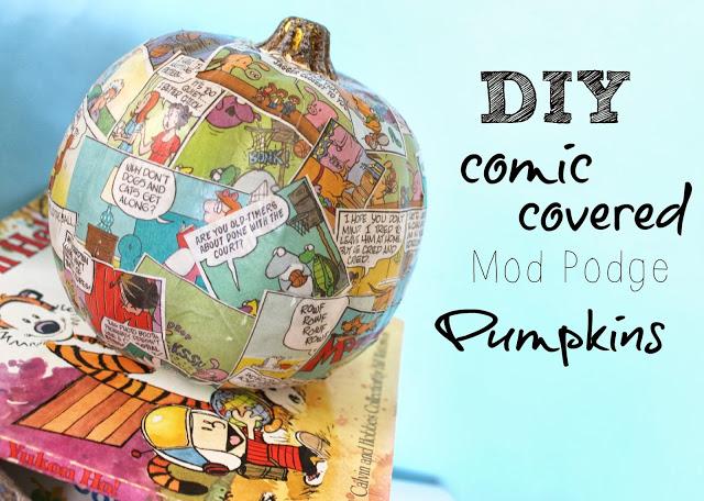 DIY comic pumpkin